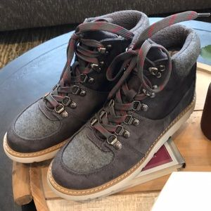 Target grey, wool hiking style boots